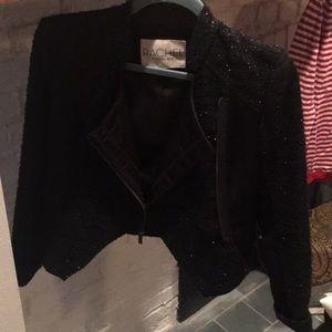Rachel Roy black cropped jacket